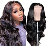 ANNELBEL Human Hair Lace Front Wigs Brazilian Body Wave Lace Front Wigs Human Hair Pre Plucked 150% Density 4x4 Lace Closure Wigs for Black Women Human Hair (24 Inch)