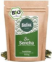 Thé vert Sencha organique (1000g) - Haut Style Japonais Sencha pour le prix maximal 1kg - doux, légèrement herbacé, hors sec et floral - certificat Fairbiotea