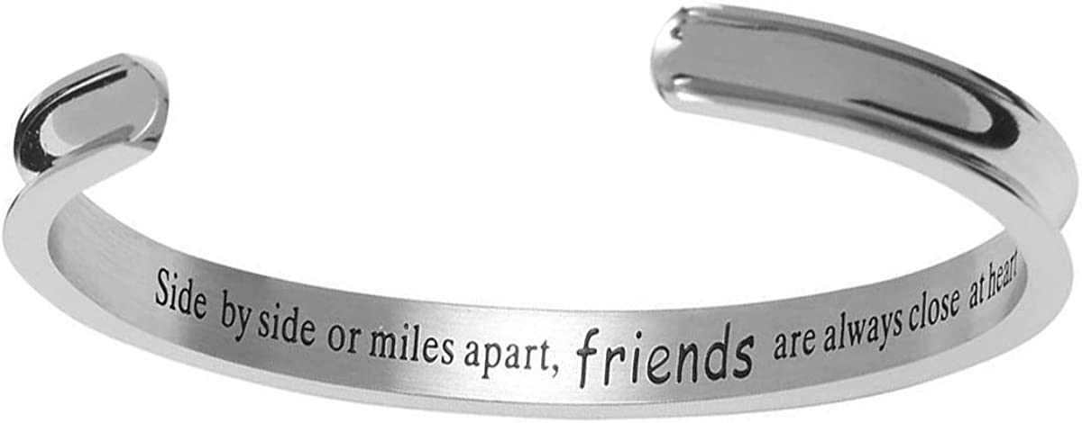 KEPKGO Inspirational Cuff Bracelets Gifts for Women, Bangle Bracelets for Women Man Keep Funking Going Engraved Personalized Jewelry Motivation Cuff Bracelets Gift Daily Reminder…