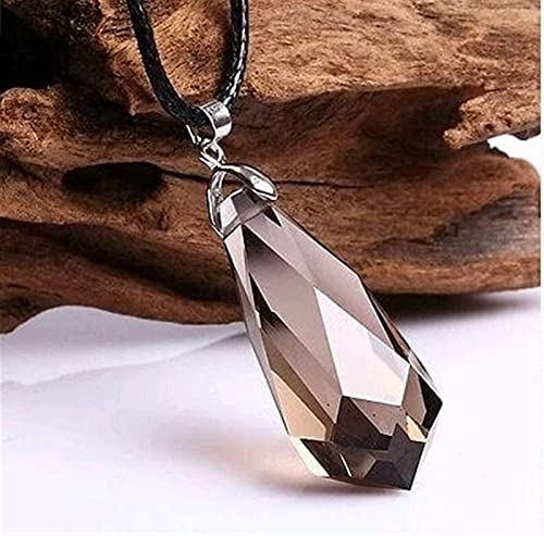 ZZLLFF The beauty of the natural quartz fish crystal pendulum pendant feng shui (Color : Grey, Size : 7 10g)
