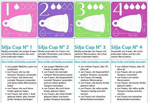 Silja Cup Menstruationstasse made in Germany aus 100% medizinischem Silikon / Nº2 RING - 4