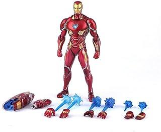 GFFTYX S.H.Figuarts Iron Man MK-50 Set de Armas Vengadores Infinito Guerra Figura de acción 6.3 Pulgadas de Alto Modelo de colección