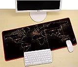 マウスパッド、大きなゲーム用マウスパッド、防水マウスパッド 布製 防水 滑り止/ 光学式マウス 対応 世界地図 (世界地図#2)