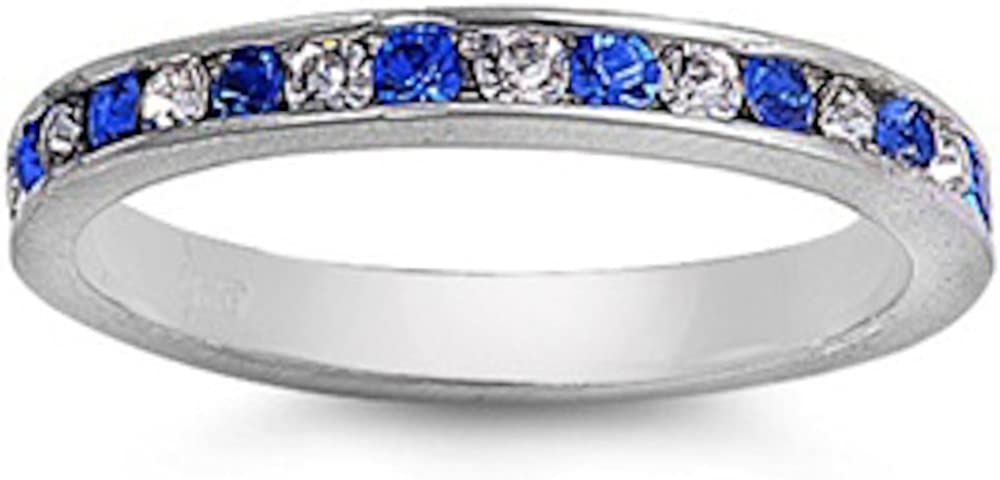 Oxford Diamond Max 42% OFF All items free shipping Co Gorgeous Blue Eternity Zirconia Cubic Clear