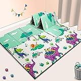 Baby Spiel Matte Spielmatte Verdickte Vergrößerte Schaumstoffmatte Faltbare Krabbelmatte Wasserdicht Tragbar Geeignet für Kinder (Bär)