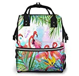 nbvncvbnbv Mochila para bolsa de pañales Exotic Leave Flamingo Bolso para pañales Mochila para pañales Mochila para pañales para el cuidado del bebé