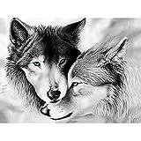 TTTTYYY Puzzle 4000 Piezas (Wolf) Rompecabezas Adultos Obra de Arte de Juego de Rompecabezas para Adultos