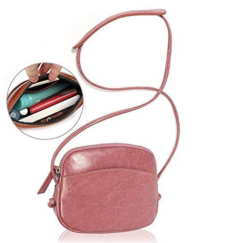 Damen Mädchen Crossbody Bag Schultertasche verstellbar schultergurt Tasche Mini Messenger Bag Vintage-Stil niedlich farbe Schwarz