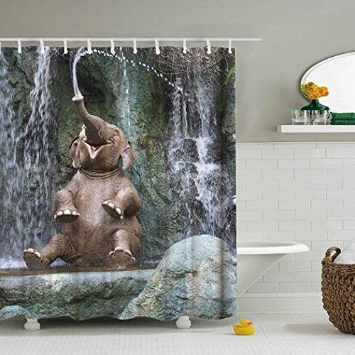YYW Shower Curtain Pebble 3D Art Printing Bathroom...