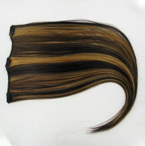 extensions à clip cheveux chocolat méché cuivré clair 60 cm ref: 627c