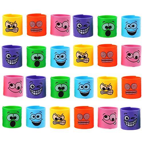 24 mini molle giocattolo assortite, motivo Emoji Smiley, ideali per le buste regalo per le feste e premi per giochi