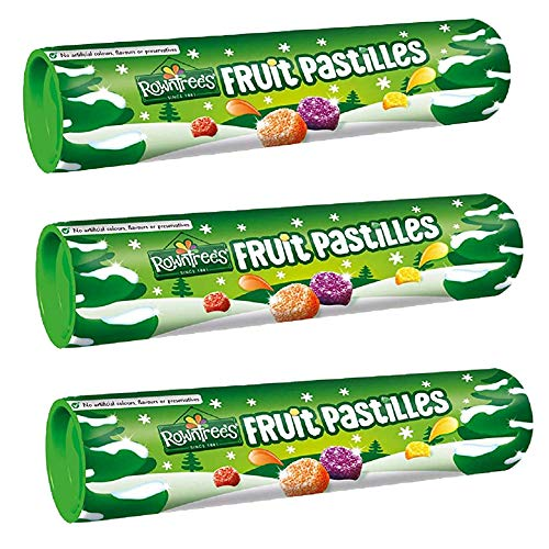 3 x 125g Natural Fruit Pastilles Gummies Sweets Gift Present Stocking Filler