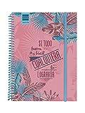 Finocam - Agenda, semana vista apaisada, español, Septiembre 2019 - Agosto 2020, Multicolor (Prints Palm)