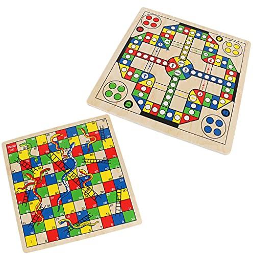 Juego de mesa Ludo Snake&Flying Chess 2 en 1 Juego de mesa de Ludo,juego de mesa de escritorio interactivo para padres e hijos,regalo de día para niños Juego de mesa de escritorio de rompecabezas para
