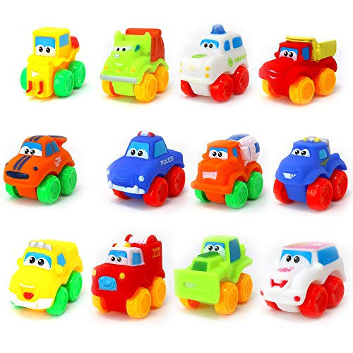 Big Mo's Toys Baby Cars - Soft Rubber Toy Vehicles for Babies and Toddlers - 12 Pieces Michigan