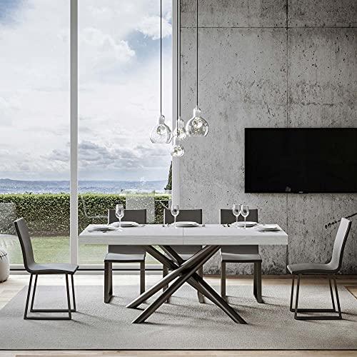 Itamoby, Mesa Famas extensible blanca fresno 90 x 160 alargada 420