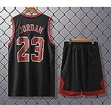 Movement Chicago Bulls # 23 Kits De Camiseta De Michael Jordan, Uniforme De Baloncesto para Hombre Y Mujer, Chaleco De Gimnasio/Camiseta Deportiva Y Pantalones(Size:/L,Color:G1)