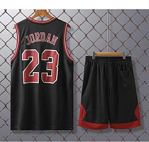 Movement Chicago Bulls # 23 Kits De Camiseta De Michael Jordan, Uniforme De Baloncesto para Hombre Y Mujer, Chaleco De Gimnasio/Camiseta Deportiva Y Pantalones(Size:2XL,Color:G1)