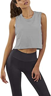 Bestisun Womens Workout Crop Tank Tops Back Mesh Yoga Shirts Exercise Gym Fitness Activewear