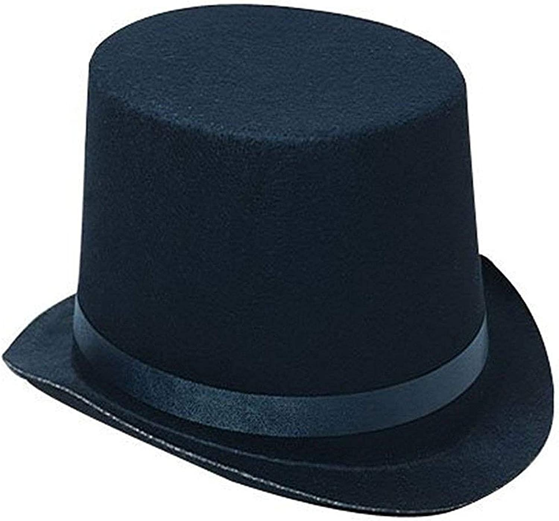 ONESWI Deluxe Black Costume Top Hat