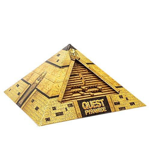 ESC WELT The Quest Pyramid - Puzzle gioco in scatola di legno per adulti e bambini con spazio segreto all'interno. Passatempo per adulti. Porta a casa la tua esperienza di escape room