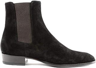 Luxury Fashion | Saint Laurent Men 443208BT3001000 Black Leather Ankle Boots | Season Permanent