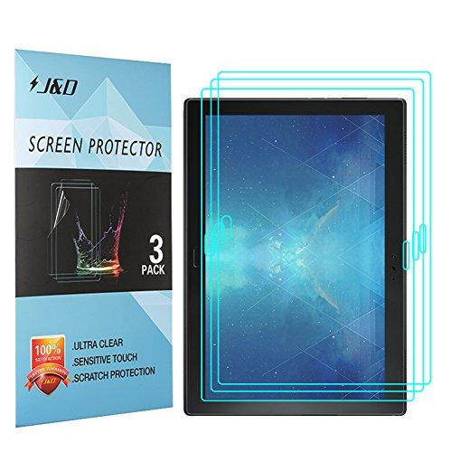JundD Kompatibel für 3er Set Lenovo Tab 4 10 Plus Bildschirm Schutzfolie, [Nicht Ganze Deckung] Premium HD-Clear Schutzfolie für Lenovo Tab 4 10 Plus - [Nicht kompatibel mit Lenovo Tab 4 10]