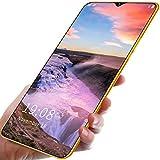 FJYDM Teléfonos Inteligentes Desbloqueados, Android 10, Teléfonos Celulares Desbloqueados con Doble SIM 5G, Pantalla De 6.5 Pulgadas, Extensión De 128GB, Teléfono con Batería De 5200Mah,Amarillo