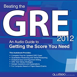 Beating the GRE 2012 audiobook cover art