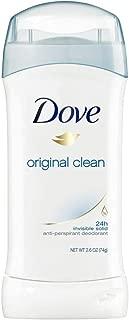 Dove Antiperspirant Deodorant Original Clean 2.6 Oz (Pack of 4)