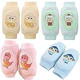 Aniwon 4 Paare Baby-knieschoner Süß Atmungsaktiv Schützend Ellenbogenschützer Toddle Knieschoner Kniekappe Zum Krabbeln