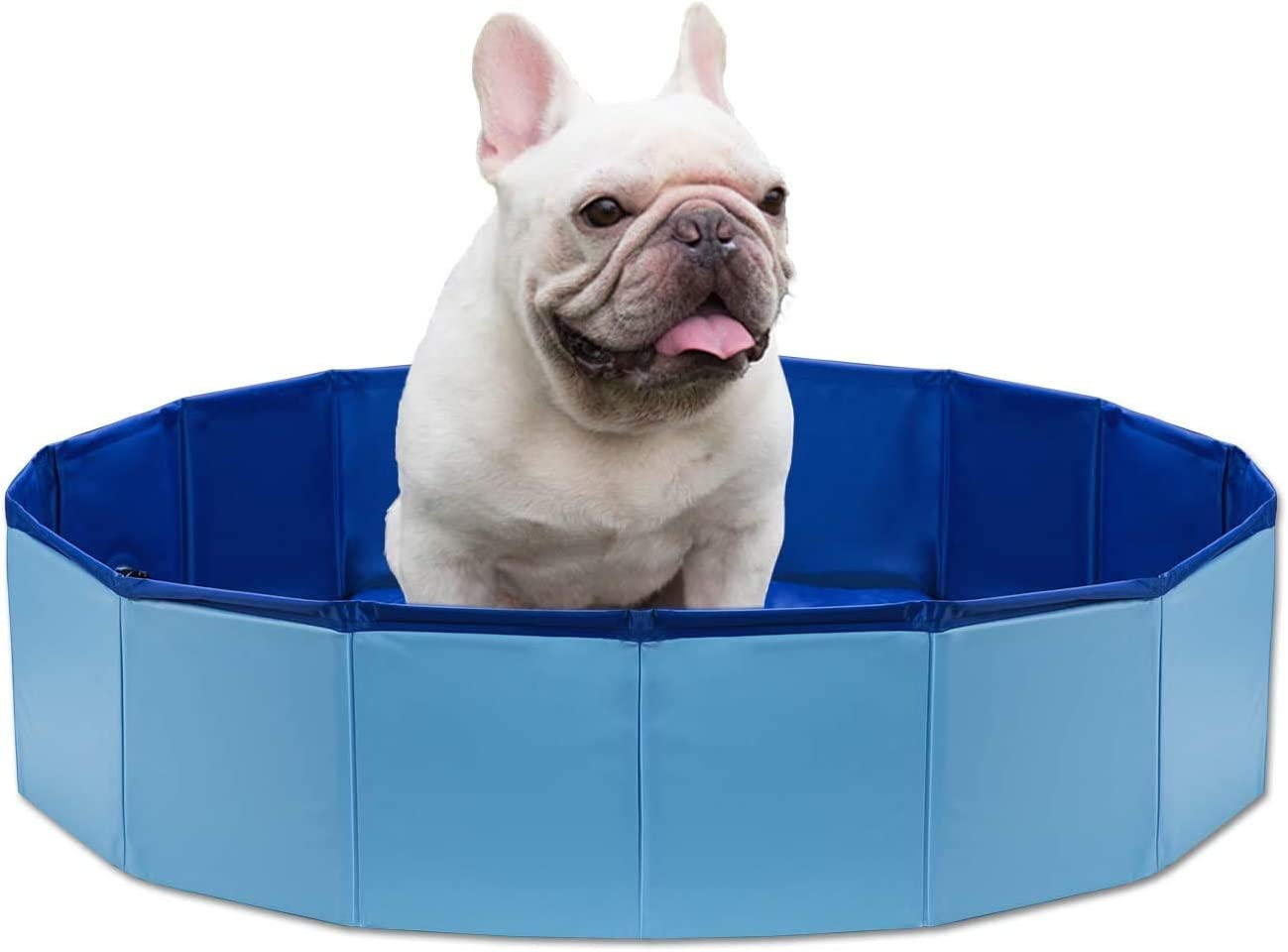 DY_Jin Piscina Plegable para Mascotas, bañera Plegable portátil para Perros, Piscina de Agua Redonda de PVC a Prueba de Fugas, Estanque de Lavado para Jugar en Interiores y Exteriores(120 * 30