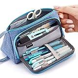 AidShunn Estuche para lápices de Gran Capacidad, Multifuncional, Bolsa de Lona, Organizador de papelería para niñas