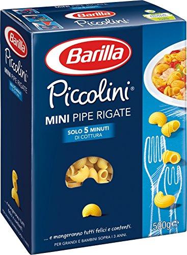 Barilla Pasta Mini Pipe Rigate, Mini Formato di Semola di Grano Duro, Piccolini, 500 g