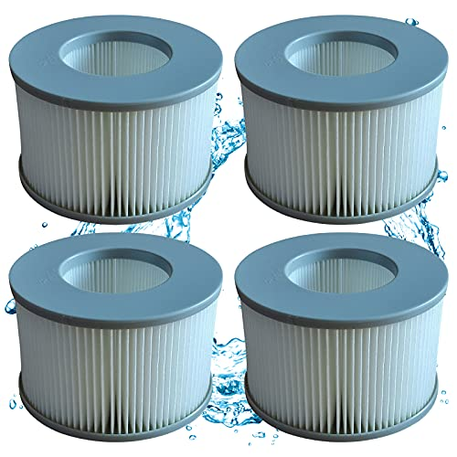Mscomft Ersatz Filter Filterkartusche für MSPA Whirlpools, Filterkartuschen für MSpa heiße U-Boote und aufblasbare Pools, zubehör für MSPA Whirlpool (4 STK)