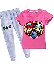 JDSWAN Unisex Conjunto Camiseta de Manga Corta y Pantalones 2 Piezas Set Jersey Ropa Deportiva Casual para Among Us Niños Niña