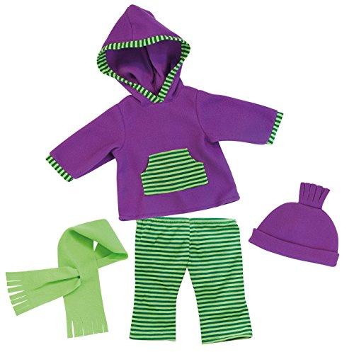 Bayer Design 8464400 - Kleidung für Puppen, Kapuzenshirt, Hose, Schal und Mütze, Circa 40-46 cm