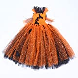 KESYOO Halloween Tutu Kleid Fledermaus Muster Pailletten