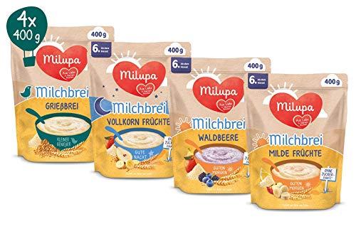 Milupa Milch und Getreidebrei Brei Paket, ab dem 6 Monat, 0.67 kilograms