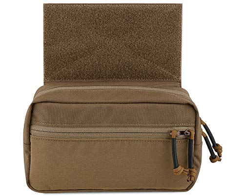 KRYDEX Tactical Drop Pouch Sub Abdominal Carrying Kit Bag for Tactical Vest Chest Rig (Coyote Brown)