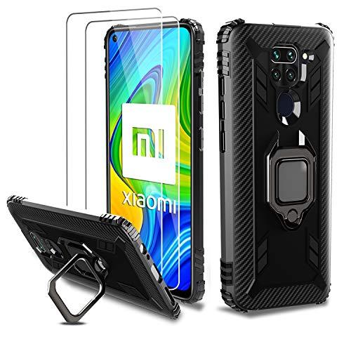 Milomdoi [Funda y 2 Unidades] Carcasa para Xiaomi Redmi Note 9...
