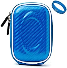 Blue Candy VG Compact Semi Hard Protective Camera Case for Nikon Coolpix S01 / S3300 / S4300 / S4100 / S3100 / S80 / S5100 / S3000 / S4000 / S1000pj / S70 / S640 / S620 / S230 / S220 / S560 / S610 / S52c / S550 Point & Shoot Digtal Cameras + SumacLife TM Wisdom Courage Wristband