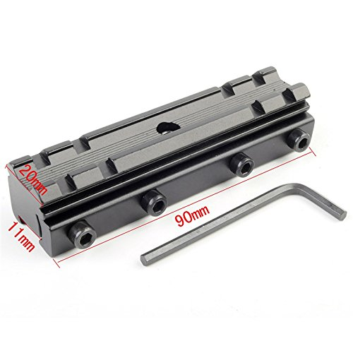 2 X  3//8 11mm Dovetail Base to Picatinny 7//8 Adapter Mount Riser .22