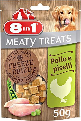 8in1 Snack di Carne Liofilizzati con Pollo e Piselli, 50 g