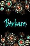 Bárbara: Cuaderno de notas Nombre personalizado Bárbara, E