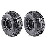 ZXTDR Pack of 2 ATV Tires 22x10-10 Wheels with Rims | Tubeless tire for Go Kart UTV Quad Bike