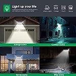 VOSONX Solar Lights Outdoor - 126 LEDs Solar Powered Security Lights, Wireless Light Sensor & Motion Sensor Light, IP65 Waterproof Outdoor Wall Lights with 270° Wide Angle for Front Door, Garage, Yard Use Application