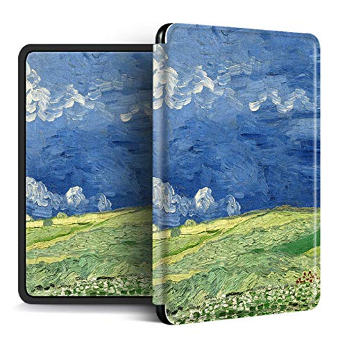 EWUEJNK Case For Kindle 2019 10A Generación/2018 Paperwhite 4, Ultra Thin Magnetic Smart Soft Silicone Protective Cover, Van Gogh Oil Painting Pattern, Style 5,For No. Pq94Wif