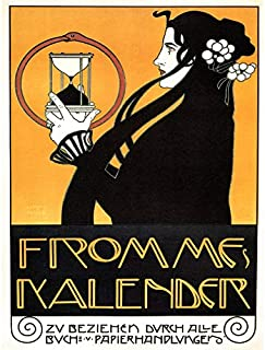 Wee Blue Coo Advert Frommes Calendar Art Nouveau Moser Austria Hungary Large Art Print Poster Wall Decor 18x24 inch