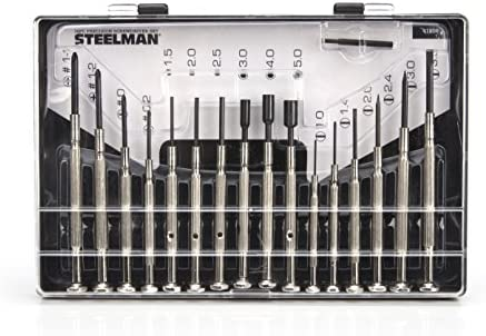 Steelman Precision Steel Shaft 16 Piece Screwdriver Set Variety of Slotted Phillips Hex Nut product image